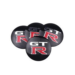 GTR Wheel Cap Logo - 4 Pc  | Wheel Center Cap | Wheel Logo | Wheel Center Hub Caps | Wheel Dust Proof Covers Badge logo-SehgalMotors.Pk