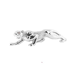 Jaguar Leopard Sculpture For Dashboard Decoration Purpose - Chrome-SehgalMotors.Pk