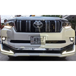 Toyota Prado Modellista Bodykit With LED Bar Honey Comb Lower Grille Set - Model 2009 - 2019-SehgalMotors.Pk