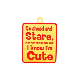 Go Ahead and Stare I Know I am Cute PVC Hanging-SehgalMotors.Pk