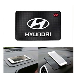 Hyundai Non Slip Dadhboard Mat - Large | Anti Skid Mat | Anti Skid Material | Silicon Type Dashboard Mat | Car Anti Slip Mat-SehgalMotors.Pk
