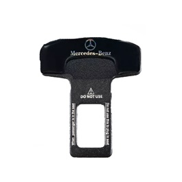 Mercedez Benz Mini Plastic Seat Belt Clip Black - Pair-SehgalMotors.Pk