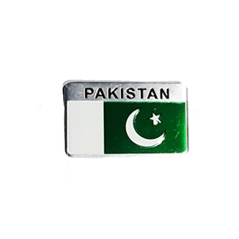 Pakistan Flag Monogram Emblem Logo with Double Tape - Chrome | Emblem | Decal | Monogram | Logo-SehgalMotors.Pk