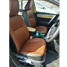 Toyota Corolla Leather Type Rexine Seat Covers Brown | Seat Coevrs | Universal Seat Covers | Leather Type Seat Covers-SehgalMotors.Pk