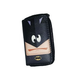 Batman Zipper Matte Leather Key Cover With Key Chain / Key Ring Pouch Style V3-SehgalMotors.Pk