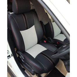 Toyota Rush Leather Type Rexine Seat Covers Black With Red Stitch | Seat Covers | Universal Seat Covers | Leather Type Seat Covers-SehgalMotors.Pk