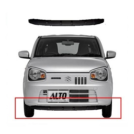 Suzuki Alto Front Bumper Matte Black Sporty Trim Splitter  - Model 2018-2020 MA001593-SehgalMotors.Pk