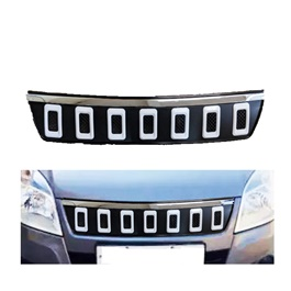 Suzuki Wagon R Navara Style Chrome Grille V2 With White Combination- Model 2014-2021-SehgalMotors.Pk