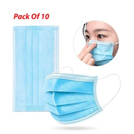 Disposable Surgical Face Mask Pack Of 10 | Best Surgical Face Mask | Super Surgical Face Mask-SehgalMotors.Pk