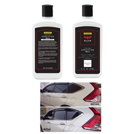Maximus Elite Class Car Color Wax - Snow White Pearl | Car Paint Scratch Paint Care Auto Polishing Repair Wax | Color Magic Car Automobiles Paint Polishing Care | Water Repellent | Shining Gloss Look Polish | Color Restorer | Scratch Filling Polish-SehgalMotors.Pk
