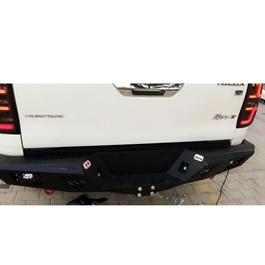 Toyota Hilux Revo Rear Bumper Steel Hamer Matte Black V2 - Model 2016-2020