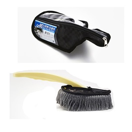 Jaesung Premium Nano Wax Sweep Black Korean | Car Cleaner Brush | Dust Cleaner | Duster | Car Care Gadget | Microfiber Wet & Dry Use Duster