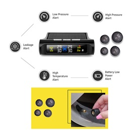 Digital Tire Air Pressue & Temperature Monitoring Device TPMS