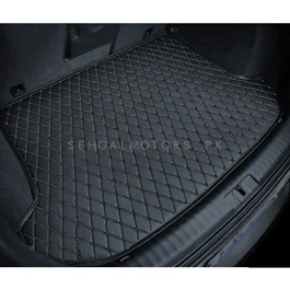 Toyota Vitz 7D Trunk Mat Black - Model 2017-2018 | Trunk Boot Liner | Cargo Mat Floor Tray | Trunk Protection Mat | Trunk Tray Cover Pad-SehgalMotors.Pk