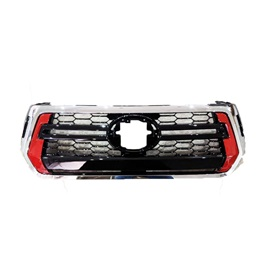 Toyota Hilux Rocco Grille With Red Trims V5 TRD Version - Model 2016-2020