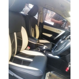 Toyota Corolla Seat Black and Beige Style Seat Covers  - Model 2017-2020-SehgalMotors.Pk