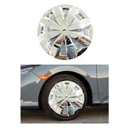 Full Chrome Car Wheel Cups / Wheel Covers - 12 inches