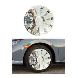 Full Chrome Car Wheel Cups / Wheel Covers Style B - 12 inches