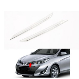 Toyota Yaris Ativ Version Front Grill Chrome Trims - Model 2020-2021-SehgalMotors.Pk