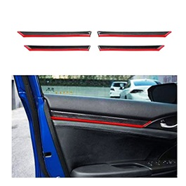 Honda Civic Inner Door Line Moulding Carbon fiber 4 Pcs - Model 2016-2021-SehgalMotors.Pk