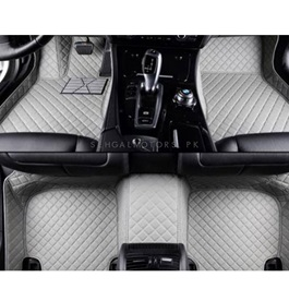 Suzuki Mehran 7D Custom Floor Mat Grey - Model 2012-2017-SehgalMotors.Pk