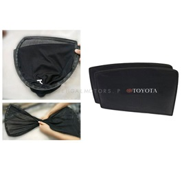 Toyota Prado FJ150 Foldable & Flexible Sunshade / Sun Shades With Logo - Model 2009-2017