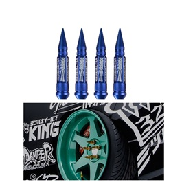 326 Power Nut Extra Long Spikes Lug Nuts for Wheels - Blue-SehgalMotors.Pk