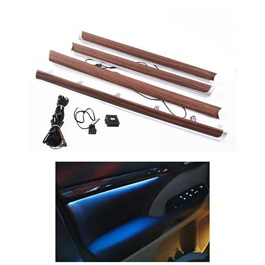 Toyota Land Cruiser Door Illumination Kit Wood Colour - Model 2015-2018