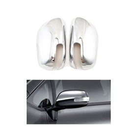 Toyota Corolla Chrome Side Mirror Covers Pair with clips- Model 2008-2012 | Corolla Side Mirror Chrome | Chrome Cover For Corolla | Chrome Cover