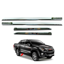 Isuzu D-Max / DMax / D Max Door Moulding Full Chrome - Model 2018-2020-SehgalMotors.Pk