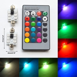 RGB Multi Color SMD Interior Dome Light | Car Vehicle Interior Lights Dome Panel LED Lamp |  Reading Lamp Map Roof Lights Bulb | Car Interior Light Dome Roof Ceiling Reading Lights Trunk Lamp Car Styling Trunk Lamp Night Light-SehgalMotors.Pk