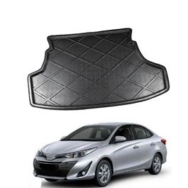 Toyota Yaris Foam Trunk Mat Tray Black - Model 2020-2021 | Trunk Boot Liner | Cargo Mat Floor Tray | Trunk Protection Mat | Trunk Tray Cover Pad	-SehgalMotors.Pk
