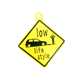 Low Life Style PVC Hanging Tag for Windshield Yellow-SehgalMotors.Pk