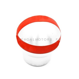 Gear Shift Knob Universal with Red Stripe Round - Red