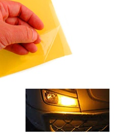 3M Transparent Orange Tape For Front Headlights / Head Lamps To Counter Fog Per Sq Ft-SehgalMotors.Pk