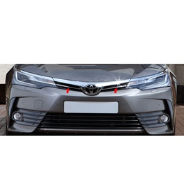 Toyota Corolla Front Grille Chrome Strips - Model 2017 -2021-SehgalMotors.Pk