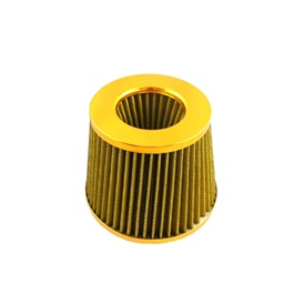 Universal Inlet Short Ram Cold Intake Round Cone Air Filter - Golden-SehgalMotors.Pk