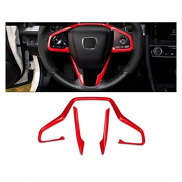 Honda Civic Steering Red Trim  - Model 2016-2021       -SehgalMotors.Pk