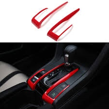 Honda Civic Interior Gear Box Red Trims 2 PCS- Model 2016-2021-SehgalMotors.Pk