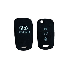 Hyundai PVC / Silicone Protection Key Cover Jack Knife 3 Button - Model 2003-2014-SehgalMotors.Pk