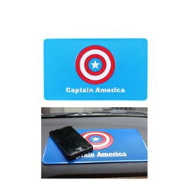 Captain America Dashboard Non Slip / Anti-Skid Mat | Anti Skid Material | Silicon Type Dashboard Mat | Car Anti Slip Mat-SehgalMotors.Pk