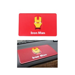 Iron Man Dashboard Non Slip / Anti-Skid Mat | Anti Skid Material | Silicon Type Dashboard Mat | Car Anti Slip Mat-SehgalMotors.Pk