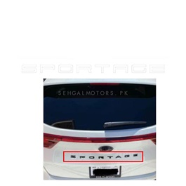 Sportage Back Trunk Sticker Like Porsche - White | Sportage Alphabet Sticker | Vinyl Sticker
