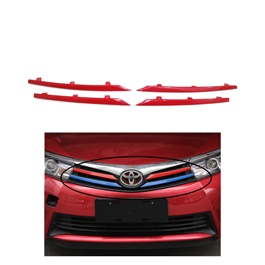 Toyota Corolla Front Grille Trims Red - Model 2017-2020-SehgalMotors.Pk