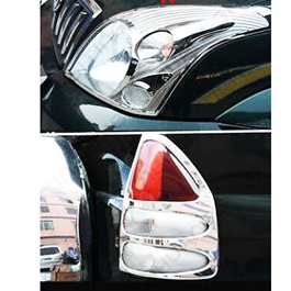 Toyota Prado Front and Back Lights Chrome Cover - Model 2002-2009-SehgalMotors.Pk