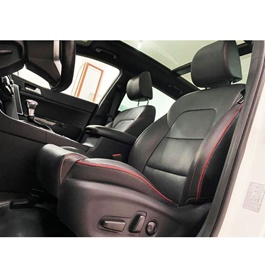 Kia Sportage Japanese Leather Type Rexine Seat Covers Black - Model 2019 - 2020