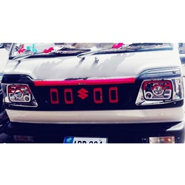 Suzuki Bolan Front Grille Navara Style Red And Black MA001689 - Model 2012-2021-SehgalMotors.Pk