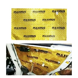 Maximus Sound Damping Deadening Sheet Gold - Each | Noise Reduction | Vibration Reduction | Shock Proofing | Glod Class Sheet-SehgalMotors.Pk