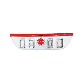 Suzuki Bolan Front Grille Navara Style Red And Chrome - Model 2012-2021-SehgalMotors.Pk