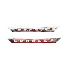 Toyota Corolla LED Chrome Garnish Complete Chrome With Red - Model 2017-2020	-SehgalMotors.Pk